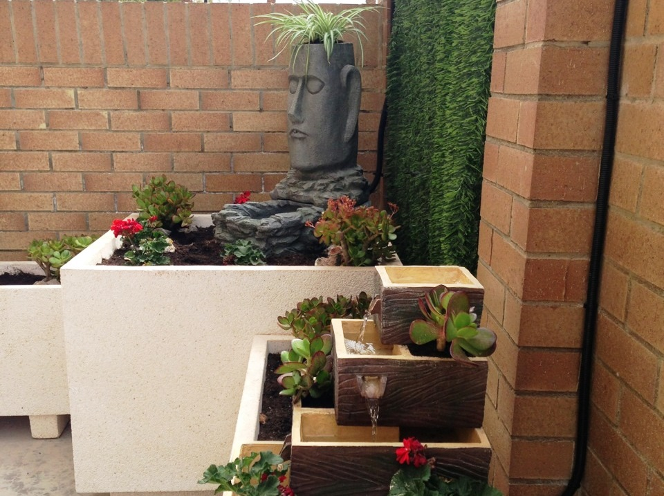 Fuentes decorativas jardineras de dise o comunidad for Fuentes decorativas