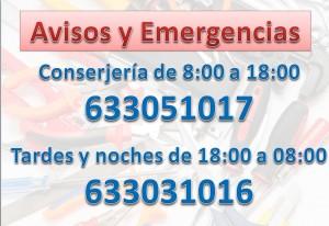 avisos y emergencia